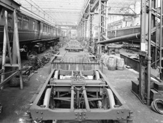 Carriage repairs  Newton Heath Works  Greater Manchester  5 March 1927.