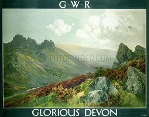 'Glorious Devon'  GWR poster  1923-1947.