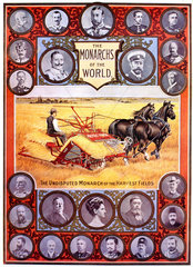'The Undisputed Monarch of the Harvest Fields'  poster  1891-1895.