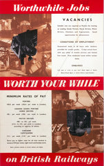 'Worthwhile Jobs on British Railways'  BR poster  1951.