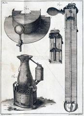 Apparatus for investigating temperature  1772.