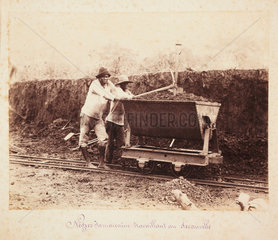 Jamaicans working on the construction of the Panama Canal  c 1885.