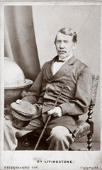 David Livingstone  missionary and traveller  c 1860s.