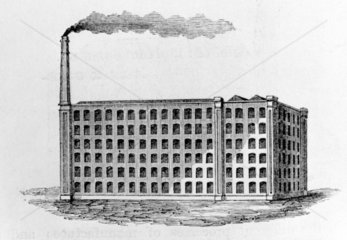 Typical Victorian mill  c 1863.