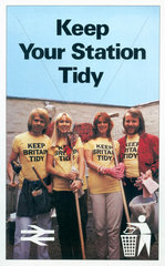 'Keep Your Station Tidy'  BR poster  1979.