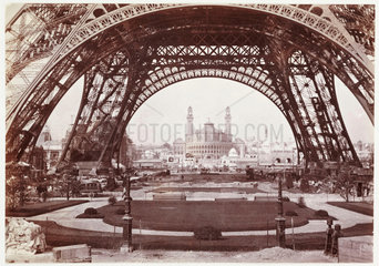 The Eiffel Tower and Trocadero  Paris Exhibition  1900.
