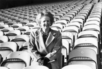 Margaret Thatcher at Bradford Football Club  Yorkshire  February 1987.