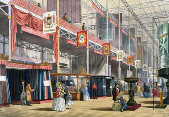 A wool stand at the Great Exhibition  Crystal Palace  London  1851.