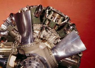 Bristol 'Centaurus' sleeve-valve aero engine  c 1940s.