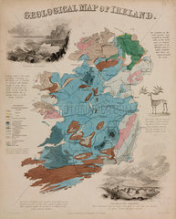 'Geological Map of Ireland'  c 1850's.