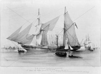 The steam frigate HMS 'Gorgon'  1837.