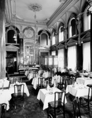 Tea room at the Great Western Hotel  Paddington Station  London  1922.