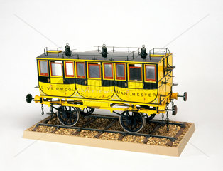 The 'Experience' railway coach  1834. Model