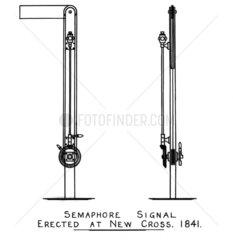 Semaphore signal at New Cross  1841.