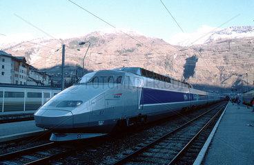 Train a Grande Vitesse (TGV)  Bourg-Saint-Maurice  France  2001.
