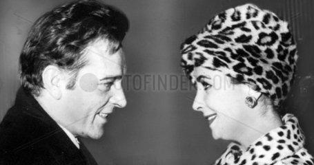 Elizabeth Taylor and Richard Burton  London  April 1963.