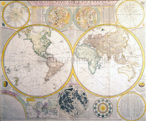Astronomical and geographic map  1781.