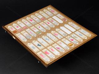 Drawer from Dr J C Wagner's slide cabinet  1954-1960.