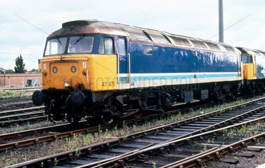 Class 47 diesel locomotive at York Station.