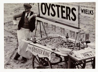 Oyster stall  c 1930.