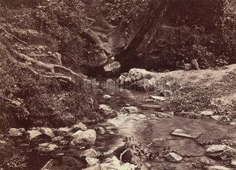 'Seven Springs  source of the Thames near Cheltenham'  c 1850-1900.