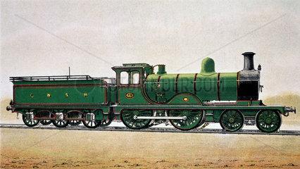 Great North of Scotland Railway express locomotive no 115  c 1900.