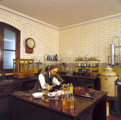 An 1890s laboratory  Chemistry Gallery  Science Museum  London  1992.