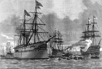 The Prince of Wales at Portsmouth  1876.