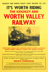 Keighley and Worth Valley Light Railway  poster  c 1970s.