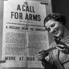 'A Call for Arms'  Second World War  May 1940.
