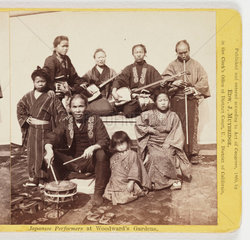 'Japanese Performers at Woodward's Gardens'  1869 .