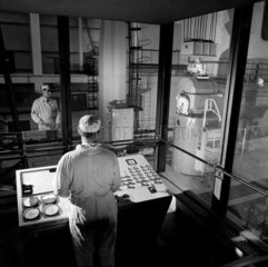 Crane control room of the Pile Cap section  Sizewell Nuclear Power Station.