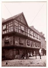 'Shrewsbury  Butcher's Row'  c 1880.