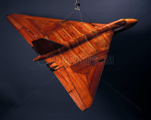 Low speed wind tunnel model of the Avro Vulcan  1950s.