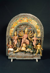 Hindu shrine  probably Bengali  19th century.