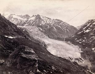 Rhone Glacier  Switzerland  c 1850-1900.