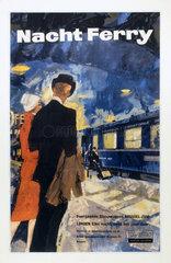'Nacht Ferry' (Night Ferry)  BR (SR) poster  c 1950s.