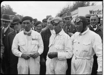 Eugenio Siena  Tazio Nuvolari and Baconin Borzacchini  Berlin  1933.