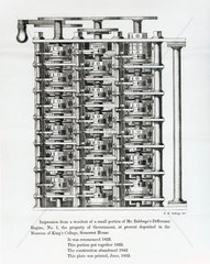 Difference Engine No 1 assembled  1853.