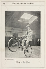 'Riding on One Wheel'  1901.