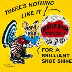Advertisement for Cherry Blossom boot polish  c 1950.