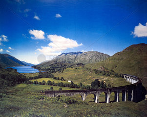 'Glenfinnan Viaduct'  artwork for a BR poster  1960.