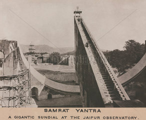 Samrat Yantra at Jaipur Observatory  India  1915.