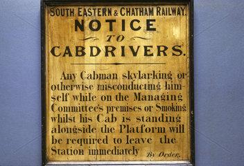 Skylarking notice from British Transport Museum  Clapham  London  April 1966.