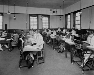 Burroughs machines in operation in a bank  1929.