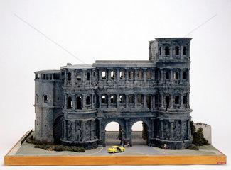 Roman city gate  Porta Nigra at Trier  Germany  c 300 AD.