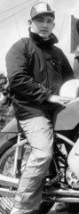 Motorcycle rider M Kitano of Japan  June 1960.