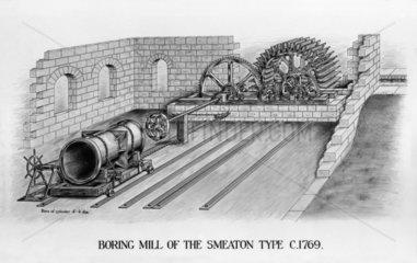 Smeaton's boring mill  1770.