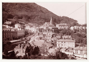 'Malvern  The Town and North Hill'  c 1880.