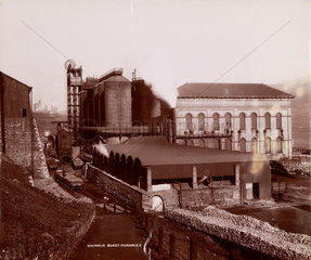 Victoria Blast Furnaces  South Wales  1880-1895.